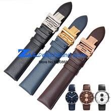 Натуральная кожа ремешки для наручных часов равнине ремешок для часов 18 мм 20 мм 22 мм смотреть band наручные часы ремешок черный коричневый синий