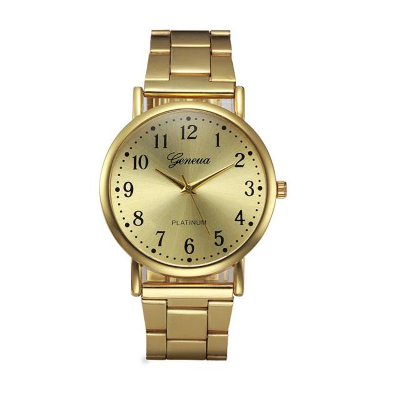 Women's watches Crystal Stainless Steel Gold Analog Quartz Bracelet Watch Relojes mujer 2018 Relogio Feminino women watches saat последняя миссия гитлера