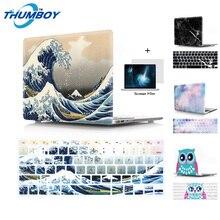 Чехол для ноутбука Apple MacBook Air Pro retina 11 12 13 15 чехол для mac book A1706 1707 1708 дюймов с сенсорной панелью подарок коврик для мыши