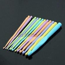 Спицы размеры вязать крючки многоцветный иглы компл. пластиковые