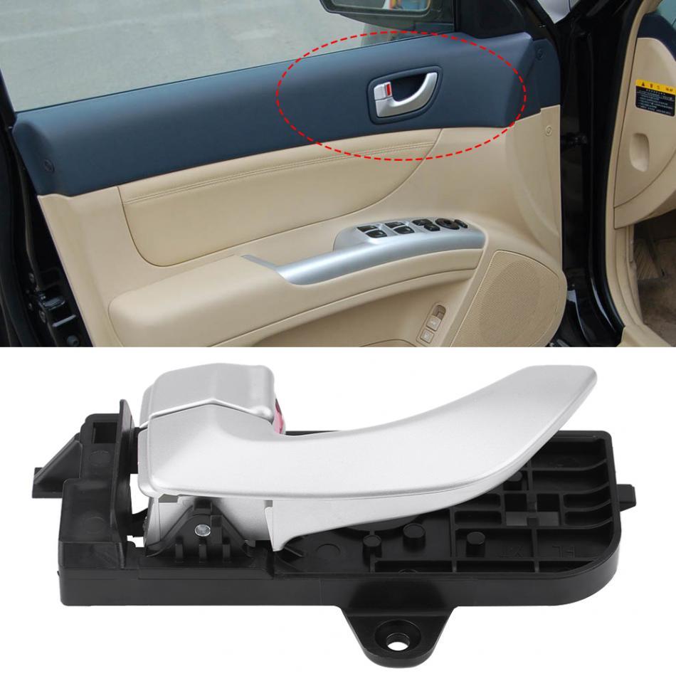 Fits 05-08 Hyundai Sonata Front Left Driver Side Inside Silver Door Handle
