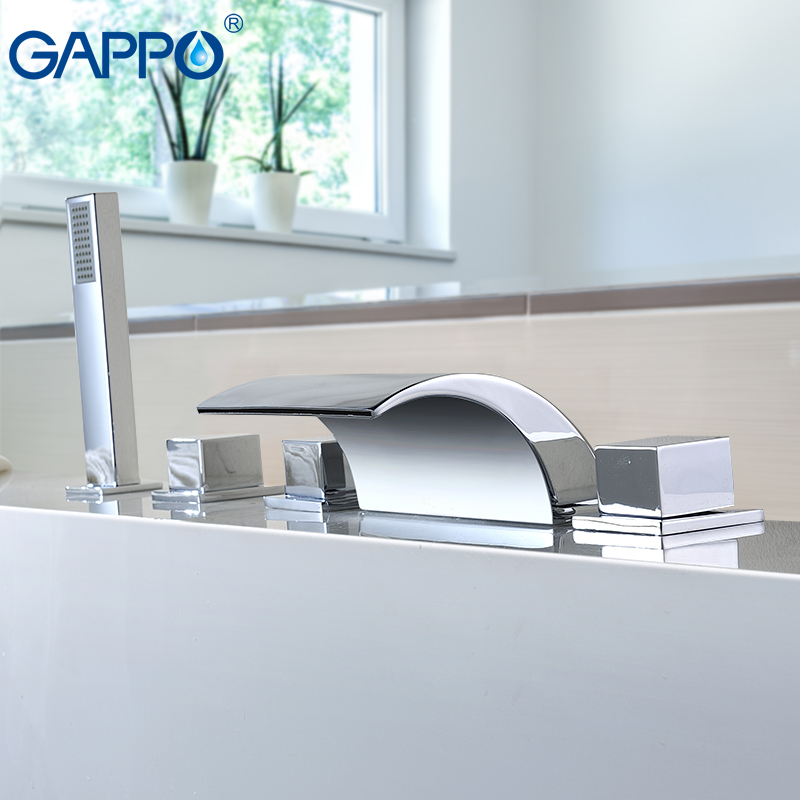 GAPPO Split Type Waterfall Bathtub Faucet Hot Cold Water Mixer Tap Bath Shower Faucet Tap Robinet Baignoire Bath Mixer