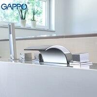 GAPPO Split Type Waterfall Bathtub Faucet Hot Cold Water Mixer Tap Bath Shower Faucet Tap Robinet Baignoire Bath Mixer