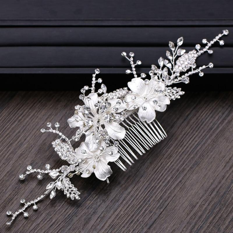 ALI shop ...  ... 32949522432 ... 2 ... 2018 New Design Silver Pearl Hair Jewelry Handmade Crystal Wedding Tiara Hair Combs Hot Sale Headpiece Bridal Hair Accessories ...