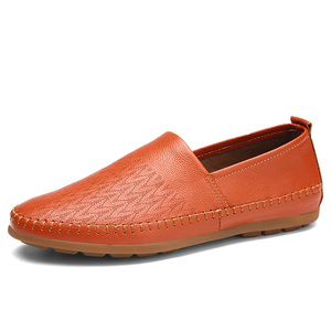 Image 4 - Brand Men Shoes Leather Casual Breathable Men Loafers Shoes Genuine Leather Soft Moccasins Driving Shoes Summer Shoes Size 47