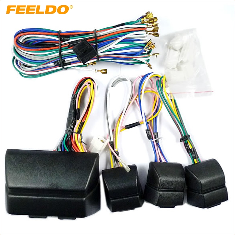 MOTOBOTS 1Set Universal Car Power Window 8PCs Switches With Holder And Wire Harness FD2469