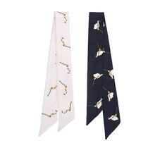 Леди Blinger 100% натуральный шелковый шарф высокое качество галстук шелковый шарф сумки декоративные реального шелковый шарф цветок шарф