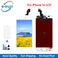 20PCS Grade AAA For IPhone 5s LCD Screen Display With Touch Digitizer Assembly Tools Tempered Glass
