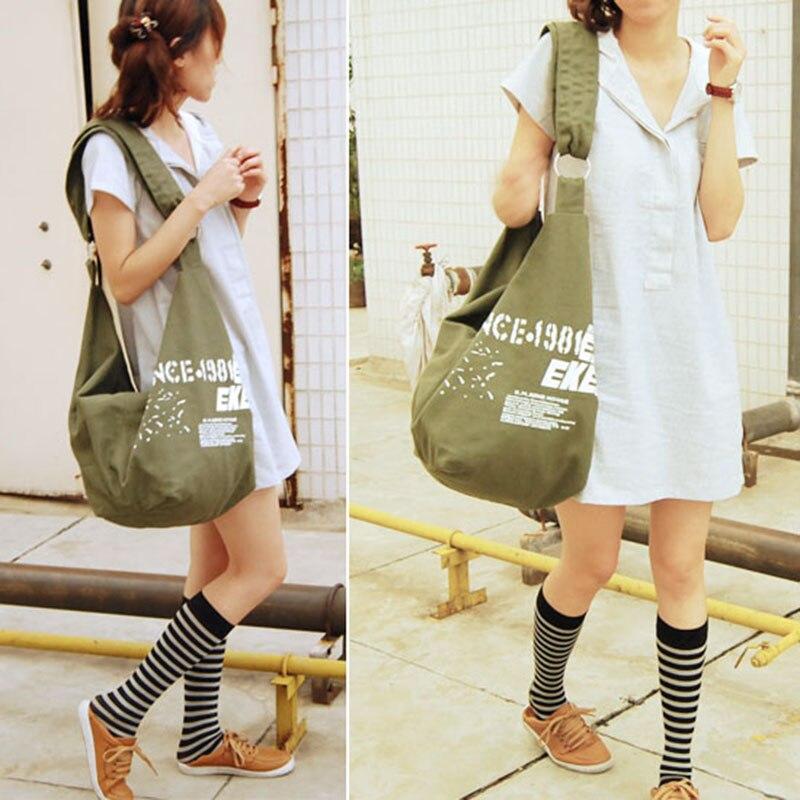 Fashion Korean women shoulder bag student leisure canvas bag #L09679