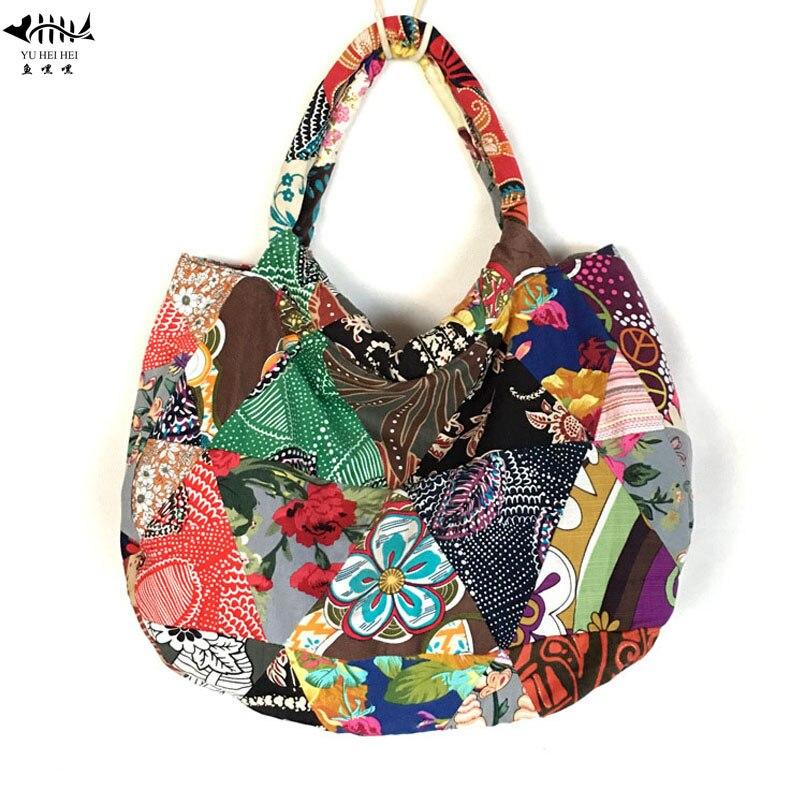 Unique Thin Seamless Patchwork Designed Tote Shoulder Bags for Women Travel  Shopping Bohemian Cotton Canvas Women s. US  15.76. Vintage Ethnic Handbag  ... 9aa72cf6f108d