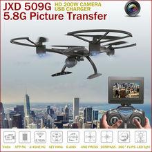 RC Helicóptero JXD 509 509 W 509G RC Drone 2.4G Modo Sin Cabeza Un tecla de Retorno 5.8G FPV RC Quadcopter Con Cámara HD VS U842 H11D