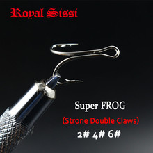 15Pcs/Pack 3 Sizes Mixed Fresh & Saltwater Fly Tying Hooks Strong Double Claws Salmon High Carbon Super Frog Duplex fishing hook