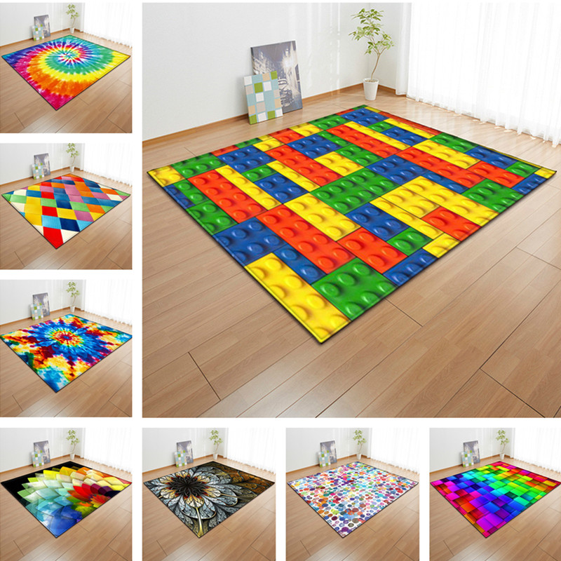 Colorful 3d living room large carpet bedroom rug anti slip - Colorful rugs for living room ...