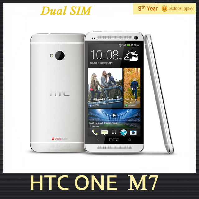 "Hot HTC One M7 801e Dual Sim Original Phone 2GB RAM 32GB ROM Quad core 4.7""INCH GPS NFC 4G Android Mobile Phone Refurbished"
