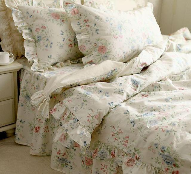 Nordic floral bedding set 4 pc vintage beautiful country for Max 4 set letto