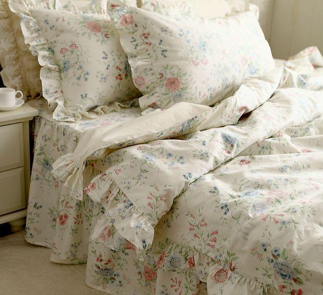 Nordic floral bedding set,4 pc vintage beautiful country style home textiles full king queen cotton bedspread pillow duvet cover