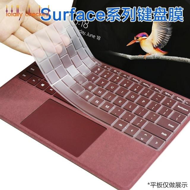 Portátil de 15,6 pulgadas/superficie de libro de 1 2 13,5/15,6/superficie para Microsoft Surface Pro 6 5 4 12,3 cubierta clara del teclado de silicona de pulgadas