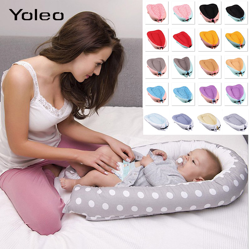 Baby Nest Bed Crib Portable Removable Washable Crib Travel Bed For Children Infant Kids Cradle For Newborn Baby Sleeping Pad