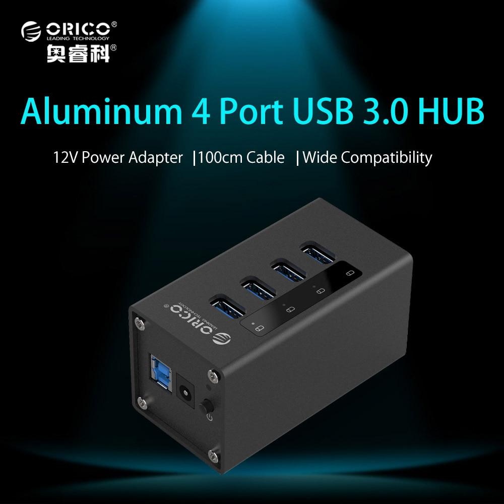ORICO 4 Ports USB 3.0 HUB Aluminum USB HUB 3.0 with 12V ...
