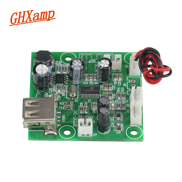 US $8 72 17% OFF|Ghxamp Protable Bluetooth Receiver Audio Board U Disk  Radio Player Phone App EQ Mic Stereo AUX Speakers, Cars DIY DC 9 35V-in