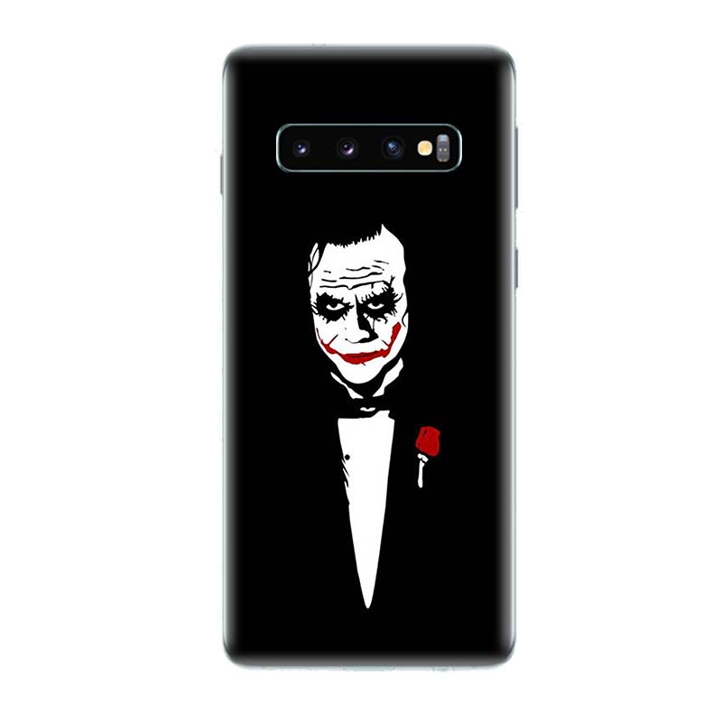 Batman Joker Dark Black Knight Phone Cases For Samsung Galaxy S9 S8 A6 A8 J4 J6 Plus A7 A9 J8 2018 Note 9 8 S7 S6 Edge Cover in Half wrapped Cases from Cellphones Telecommunications