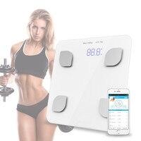 Bluetooth ciała Skalę Łazienka Szkła Inteligentny Elektroniczny Domowego Cyfrowy Piętro Rozkład Masy Ciała Wagi Bariatryczna Wyświetlacz LCD
