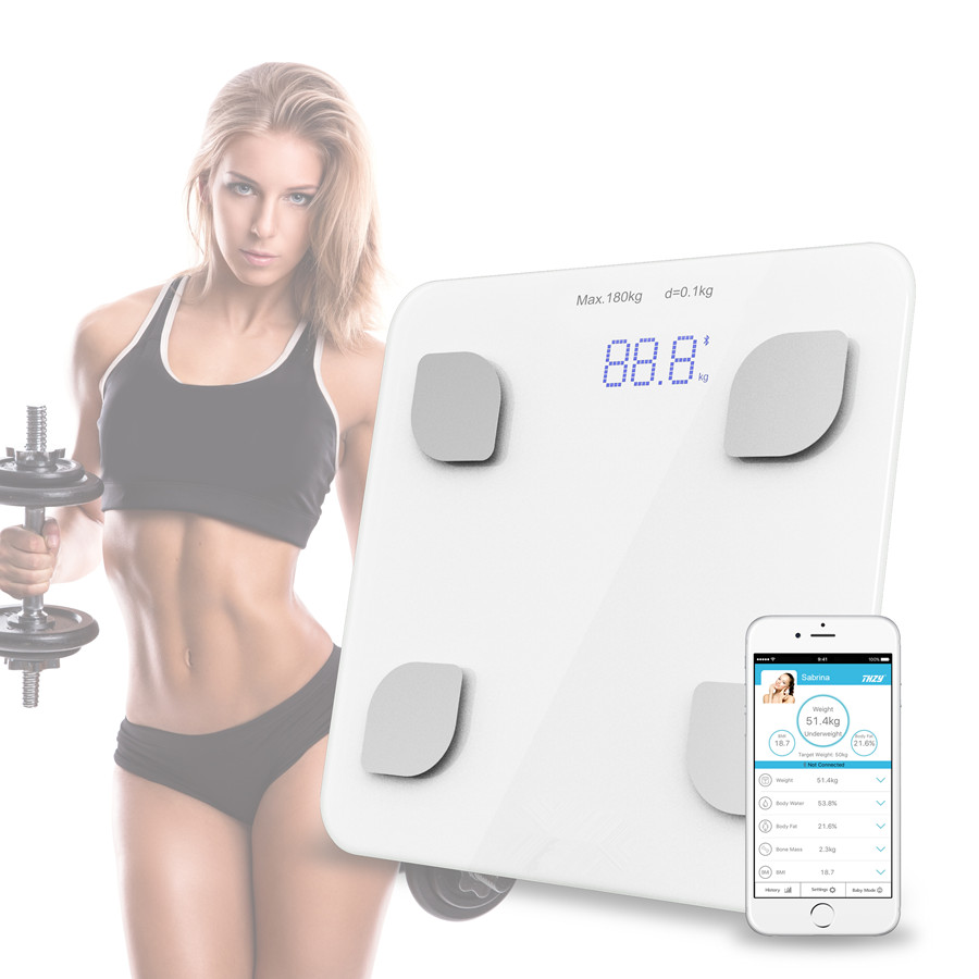 Bluetooth Scale body Bathroom Body Scales Glass Smart Household Electronic Digital Floor Weight Balance Bariatric LCD Display ...