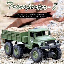 Jjrc Q69 2.4ghz 6wd 1:18 Remote Control Military Truck 6 Wheel Drive Off-road Rc Truck Model Remote Control Climbing Car jjrc q60 jjrc q61 1 16 rc truck 2 4g 6wd 4wd rc off road crawler military truck army car children gift kids toy for boys rtr