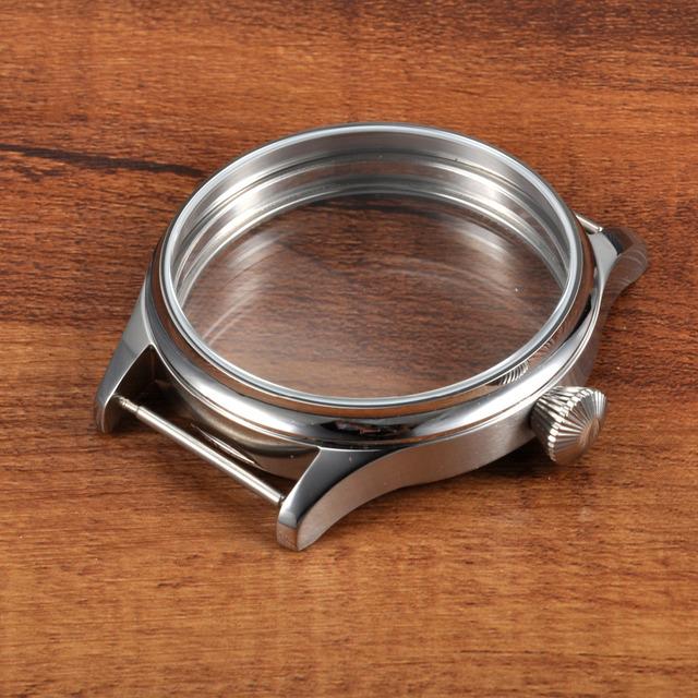 44mm Caso Ajuste ETA Relógio Corgeut Estéril 6498 6497 Mão Winding Movimento SC4412