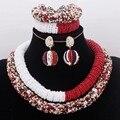 4UJewelry Peach Nigerian Wedding Set African Beads Big Design Bold Costume Choker Set Free Shipping Bridal Jewelry Set 2019 New