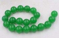 Loose бусы зеленый нефрит Круглый 20 мм для изготовления ювелирных изделий ожерелье 14 inch fppj оптовая продажа