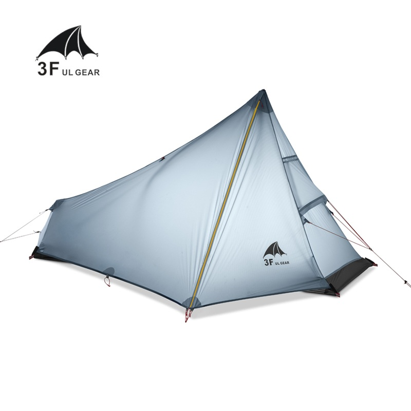 3F UL GEAR 1 Man Best Camping Tent Ultralight None Pole Waterproof Single Person Outdoor Hiking Backpacking Camp Tent outdoor double layer 10 14 persons camping holiday arbor tent sun canopy canopy tent