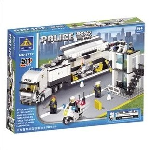Enlighten Police Station Building Blocks 511pcs Bricks Building Kits City Truck Car Toys Educational Compatible with