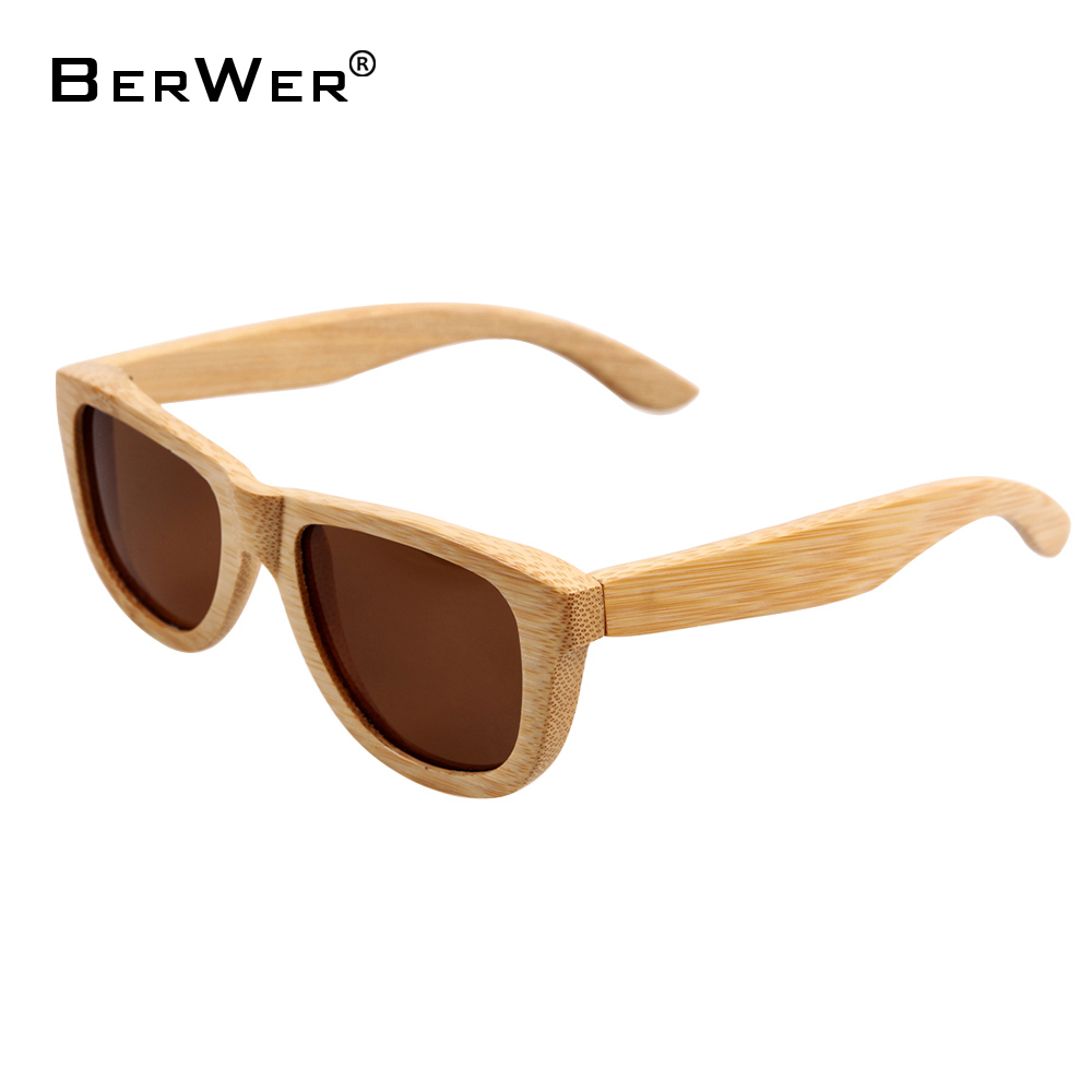 BerWer malé přírodní bambusové sluneční brýle pro muže Wood - Příslušenství pro oděvy