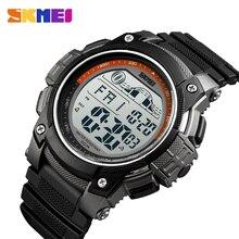 SKMEI Outdoor Sport Watch Men 5Bar Waterproof LED Display Wristwatches Alarm Clock Chrono Digital Watch Relogio Masculino 1372 цена и фото