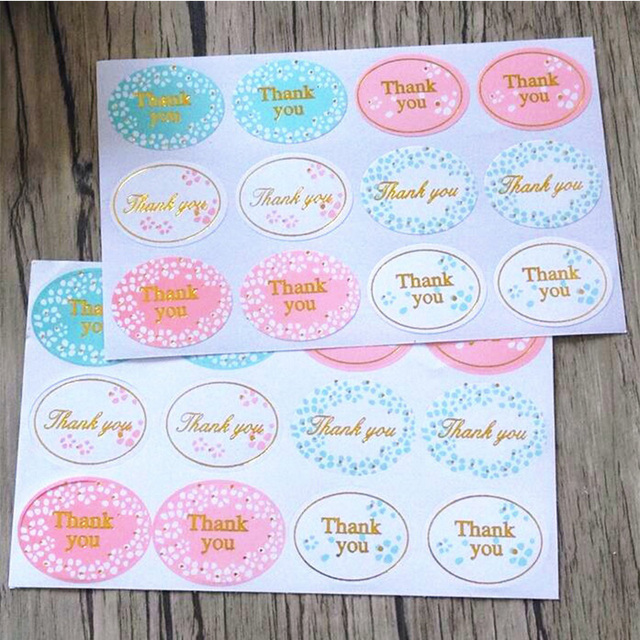 "120pcs/lot New Retro Kawaii HANDMADE ""Thank you""Round  Seal sticker For handmade products"
