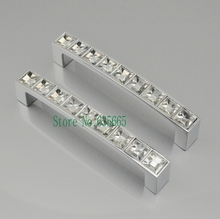 96MM Crystal Diamond Furniture Hardware Handle Door Knob Drawer Wardrobe Kitchen Cabinets Cupboard Dresser Pull Door Accessories