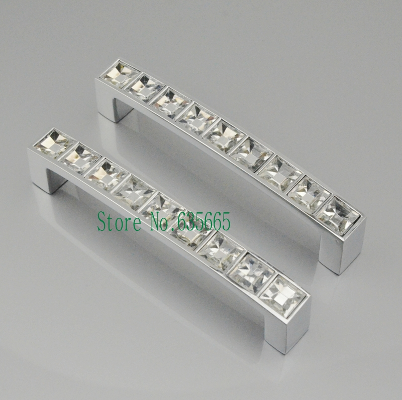 96MM Crystal Diamond Furniture Hardware Handle Door Knob Drawer Wardrobe  Kitchen Cabinets Cupboard Dresser Pull Door Accessories In Cabinet Pulls  From Home ...