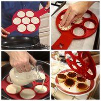 50 шт./компл. оптовая продажа творческих силикона 7 сеток яйцо инструменты выпечки торта фантастические антипригарной блин Maker DIY вместительн