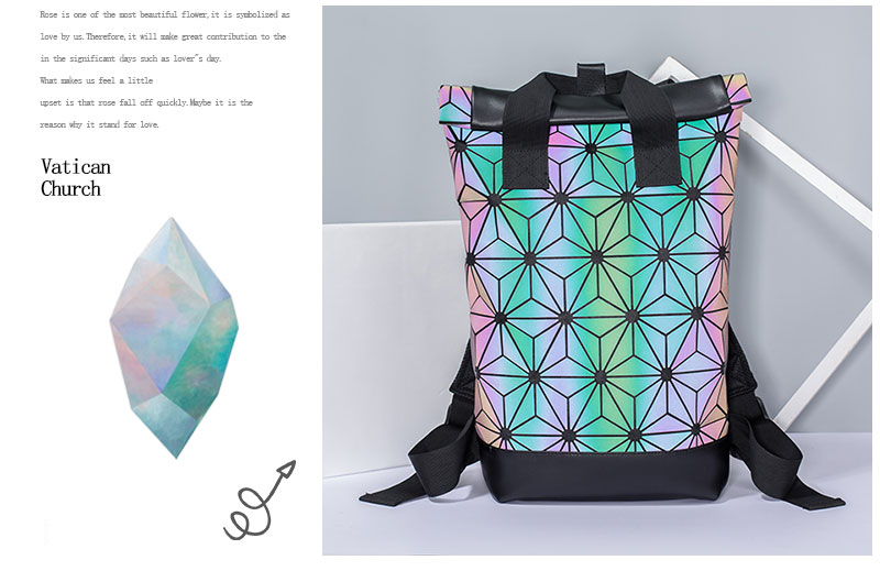 HTB16xZMSgHqK1RjSZFEq6AGMXXac - Women's Holographic Backpack | Geometric