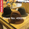 Winter Wool Felt Fedora Hats For Women Chapeu Feminino Panama Hats Female Free Shipping PWFR-031