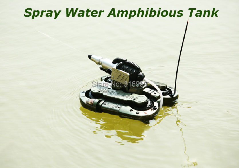 Super Army Amphibious RC Tank Spray Water Remote Control 6 Channel Simulation Tank Model Electronic Tank Vehicle Model Toy baby toys rc tank boy toys amphibious tank 4ch 1 30 large rc tank toy remote control tank fire bb bullets shooting gift for kids