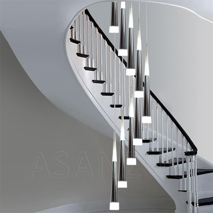 Moderno led luzes pingente cônico muitas cabeças