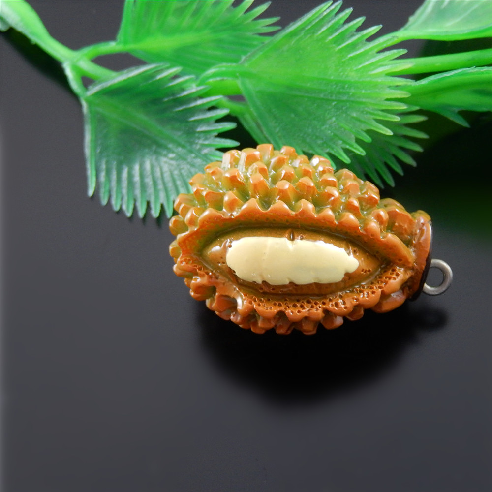5pc/lot Fashion Resin Fruit Creative Jewelry Durian Necklace Pendant Charm Popular Key Chain Bracelet Accessory 33*20*19mm 51565