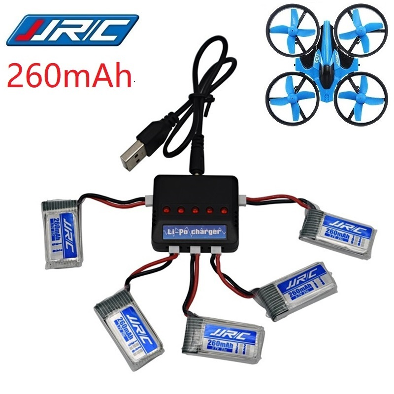 Original JJRC H36 battery 3.7V 260mAh For Eachine E010 E011 E012 E013 Furibee F36 RC Quadcopter Parts Lipo Battery and Charger(China)