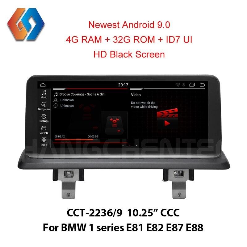Tela 9 ID7 4G Android para BMW série 1 E81 E82 E87 E88 CCC Carro Suporte de Navegação GPS Multimídia OEM Câmera BT SWC PDC iDrive
