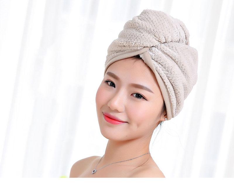 GIANTEX Japanese Polyester Cotton Women Bathroom Super Absorbent Quick-drying Bath Towel Hair Dry Cap Salon Towel 23x60cm U1031 7