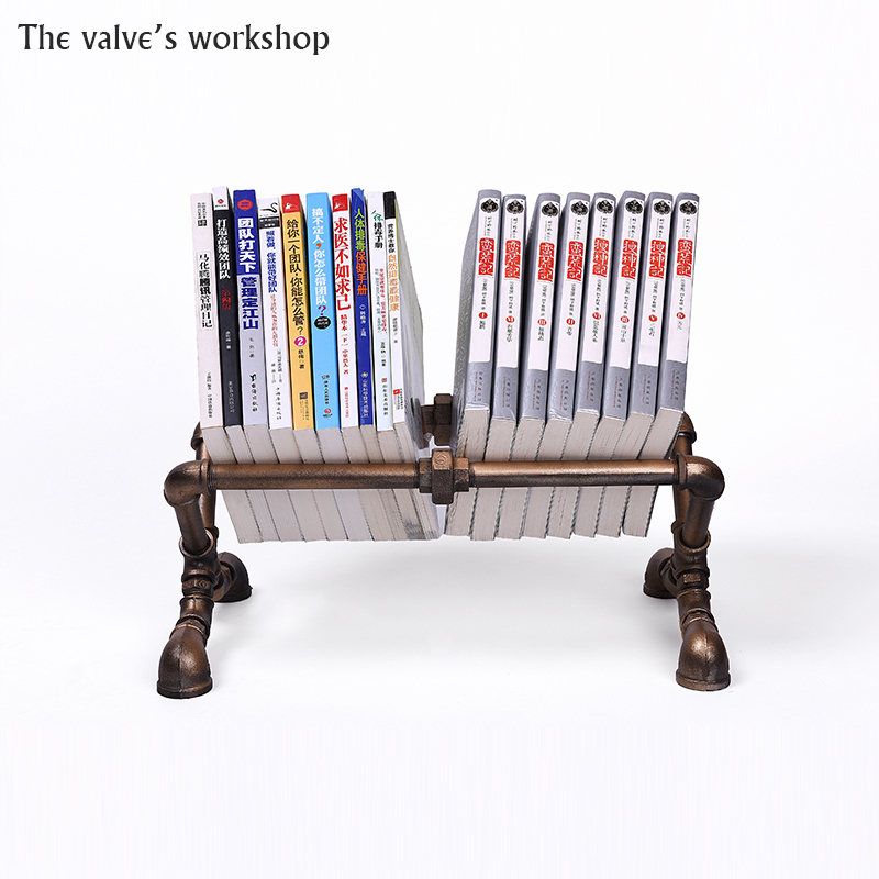 Retro Individuality Creative Bookshelf Pipe Iron Metal Shelf Cafe Bars Study Living Room Bedroom FJ ZN2Y 001A0 In Bookcases From Furniture On