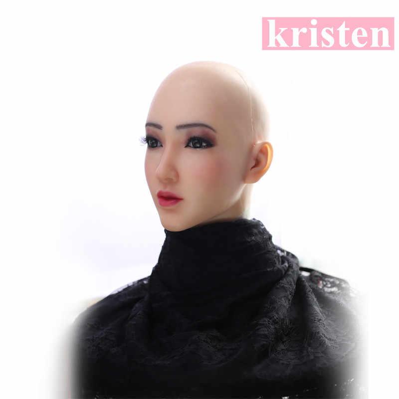 Rosto de pele humana artificial realista transgênero cosplay disfigurement reparação disfarce auto silicone formas mama