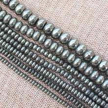 Naturale della Pirite Rondelle Beads 15 inch per fili, BeadsFor Gioielli FAI DA TE Fare! forniamo il commercio all'ingrosso misto per tutti gli articoli!